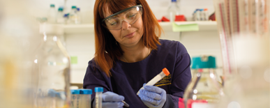 Our cancer research efforts and core aim is to eliminate cancer and reduce patient suffering. Find out more.